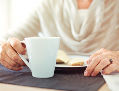 A warm cup over breakfast